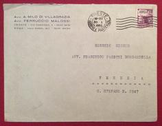 TRIESTE AMG-FTT L.20 Su Lettera AVV.VILLAGRAZIA MALOSSI PER VENEZIA IL 30/1/50 - 7. Trieste