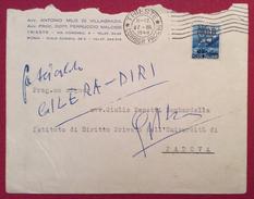 TRIESTE AMG-FTT L.15 SU BUSTA AVV.VILLAGRAZIA MALOSSI PER VENEZIA IL 27/3/49 - Storia Postale