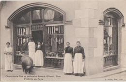 CPA SUISSE VS SION Commerce Charcuterie Fine Et Ordinaire Maison Joseph GIRARDI - VS Valais