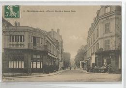 95 - Val D'oise - Montmorency Place Du Marché Et Avenue émile Café De Paris Buvette - Montmorency