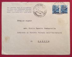 TRIESTE AMG-FTT L.15 COPPIA  SU BUSTA AVV.VILLAGRAZIA MALOSSI PER PADOVA IL 6/1/49 - 7. Trieste