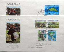 Faroe Islands  1978 Islands Of Mykines   MiNr.31-35       FDC   ( Lot  6284 )