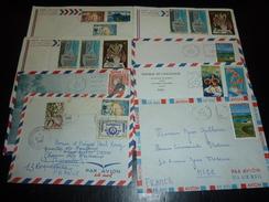 LOT DE 34 ENVELOPPES SUR LA POLYNESIE FRANCAISE DE 1966 à 2009  AVEC CACHETS à DATES ET FLAMMES - LETTRE MARCOPHILIE - Polynésie Française