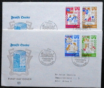 Faroe Islands  1982  MiNr.75-78  Medieval Dancing Songs    FDC    ( Lot  6065  ) MN COVER