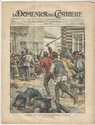 1903 Italian Magazine  Pogrom Against Jews At GOMEL Homiel Homel In Belarus  HUGE LITHO Hebraica Hebrew Hebrews Jew - Vor 1900