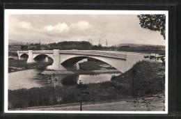 AK Dillingen, Blick Auf Die Saarbrücke - Germany