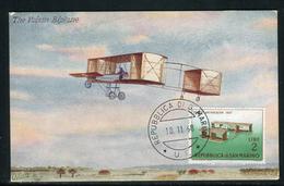 """Saint Marin - Carte Maximum 1968 , Avion , Carte Postale """" Oilette """""""