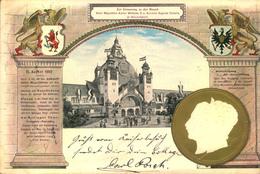 1902 DÜSSELDORF, Industrie-Gewerbe U. Kunstausstellung, Besuch Kaiser Wilhelm II U. Kaiserin Auguste Victoria - Allemagne