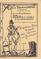 """Bf - Carte Dépliant """"Le Tournebride"""" Bar, Restaurant à Paris 8è - Rue Cambacérès (format 8,5 X 12 Cm) - Cafés, Hôtels, Restaurants"""