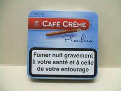 BOITE Métal Vide CAFE CREME Piccolini Blue - Étuis à Cigares