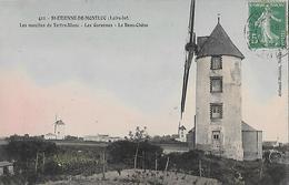 CARTE POSTALE ORIGINALE ANCIENNE : SAINT ETIENNE DE MONT LUC MOULINS TERTRE BLANC GARENNES LE BEAU LOIRE ATLANTIQUE (44) - Saint Etienne De Montluc