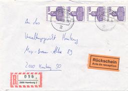 HAMBURG - 1988 , Einschreiben Mit Rückschein , Schloss Charlottenburg