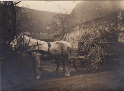 Photo 14-18 Ruelisheim, Zillisheim ??? (près Mulhouse) - Un Attelage Allemand (A168, Ww1, Wk 1) - France