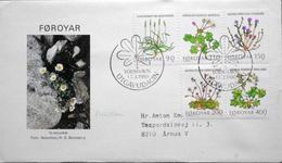 Faroe Islands  1980  Feldblumen,Flowers   MiNr.48-52       FDC   ( Lot  6286)