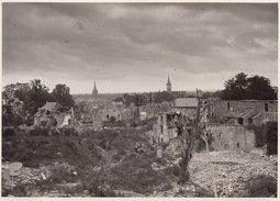 Photo Guerre Caen Ruines 18x13cm - Guerre, Militaire
