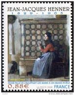 France Peinture Autoadhésif N°  223 Au Modèle 4286 - Oeuvre De Jean Jacques HENNER - Jeune Fille Se Chauffant  Les Mains - Arts