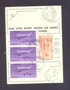 FINISTERE 29 BREST CENTRE COM RALLYE AP ORDRE DE REEXPEDITION - Marcophilie (Lettres)