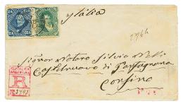 1881 16c + 24c Canc. BUENOS AIRES On REGISTERED Envelope To CASTELNUEVO (ITALY). Vvf.