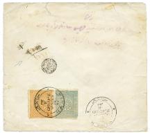1897 TURKEY 1P + 2P Canc. HANIA + Negativ REGISTERED Cachet On REGISTERED Envelope. Scarce. Vf.