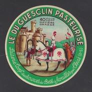 Etiquette De Fromage  -  Le Du Guesclin  -  Lait. Coop. Des Sources Du Betz  à  Availles   (79) - Cheese
