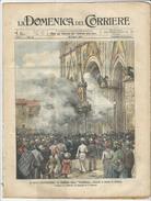 """Rivista Del 1903 LITHO  Cerimonia Della """"Palombella"""" Davanti Al Duomo Di ORVIETO Terni Umbria - Before 1900"""