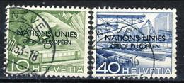 Svizzera Nations Unies Office Européen 1950 N. 297 C. 10 E N. 303 C. 40 Usati Cat. € 15,50 - Servizio