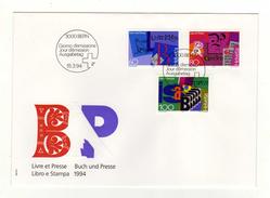 Enveloppe HELVETIA SUISSE 1er Jour Oblitération 3000 BERN 15/03/1994