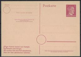 AZ255      Deutsches Reich Postkarte P 314/02 Der Führer Kennt... - Interi Postali