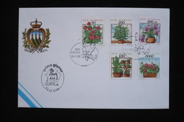St Marin San Marino EPJ Fleurs Dont 5000 Lires 26/3/92 Roses Cactus