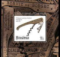 ROMANIA 2016 Romanian Collections, Corkscrews (imperforate)