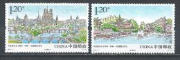 China. Scott # 4172-73  MNH. Rivers. Joint Issue With France 2014 - Emissions Communes