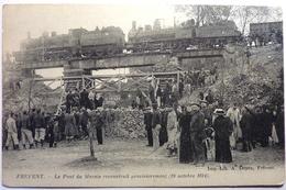 LE PONT DU MARAIS RECONSTRUIT PROVISOIREMENT (19 Octobre 1914) - FREVENT - Ouvrages D'Art