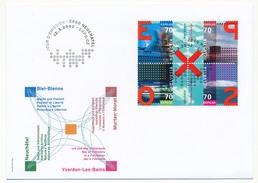 SUISSE -  FDC 2002 - Exposition 2002 Bienne Neuchâtel Yverdon Murten Morat - Cachet Neuchatel