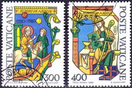 Vatikan - Hl. Albertus Magnus (MiNr. 777/8) 1980 - Gest. Used Obl. - Vatican
