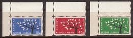 Cyprus 1963 Europa, Mint No Hinge, Sc# 219-221