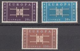 Cyprus 1963 Europa, Mint No Hinge, Sc# 229-231