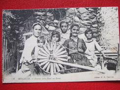 """TUNISIE - MONASTIR - """" FEMME SERBE FILANT AU ROUET """" - 1918 - - Tunisie"""