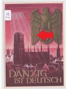 """236, Ganzsache """" Danzig Ist Deutsch """" Gelaufen 1939 ! - Guerre 1939-45"""