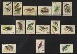 NORFOLK  ISLAND  1970  BIRDS  SET   MNH - Pájaros
