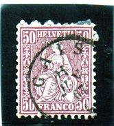 B - Svizzera 1881 - Elvezia Seduta - 1862-1881 Sitted Helvetia (perforates)