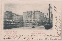 GRUSS AUS TRIEST - SALUTO DA TRIESTE - PIAZZA DEL PONTE ROSSO - Trieste (Triest)