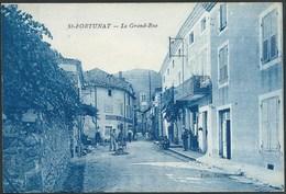 07  SAINT- FORTUNAT ( ARDECHE) ANIMEE...LA GRAND' RUE...BOULANGERIE MEZENC....C2184 - France