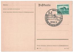 AZ258      Deutsches Reich 1938, Stempel MAGDEBURG EROFFNUNG DES MITTELLANDKANALS - Poststempel - Freistempel