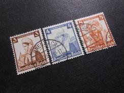 D.R.Mi 588+589+592 - 3/4/8Pf - 1935 - Mi € 4,50 - Usados