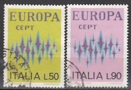 1272 Italia 1972  Europa CEPT XVII Emissione Viaggiato Used - Full Set - Europa-CEPT