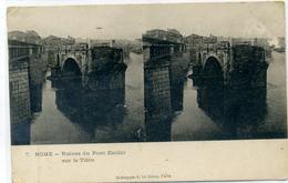 ROME - Ruines Du Pont Emilio Sur Le Tibre - Carte Stéréo - Ponts