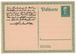 AZ259      Deutsches Reich , P 207 Sonder-Postkarte HINDENBURG ** 1927 - Ganzsachen