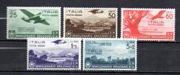 ITALIE 1936 Bimillenario Oraziano 5 Valeurs Traces Charnières - Ungebraucht