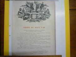 RHIN  Et  DANUBE  :  ORDRE Du JOUR  N°10  Signée  DE LATTRE   - 1939-45