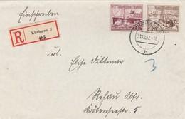 Allemagne Lettre Recommandée Kitzingen 1937 - Germany